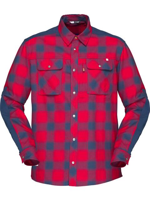 Norrøna M's Svalbard Flannel Shirt Jester Red